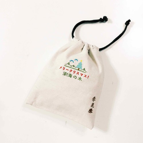 The fifth anniversary of the sea tree bunches pouch _ free embroidery on your name (single spending over 1500 that gift)
