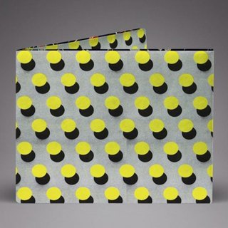 Supervek polka yellow hand-made paper wallet / wallet / short clip Tyvek environmental protection material waterproof tear