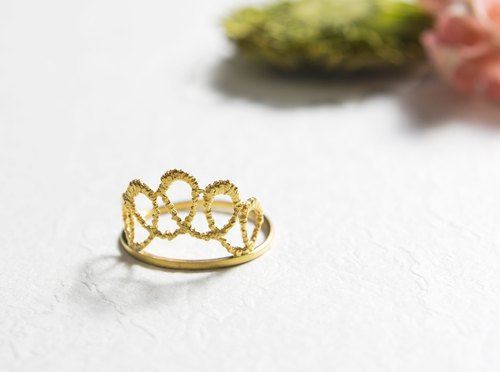 Lace crown fine hand made 925 sterling silver ring