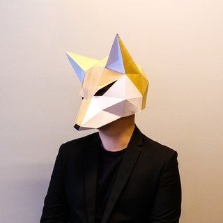 3D Paper Model_Fox Mask_DIY Kits_Hand-made combination