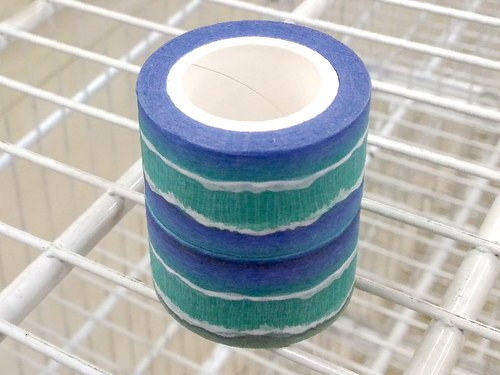 ✐ Liuyingchieh ✐ 海 ‧ ocean = and paper tape Washi Masking Tape 25 mm x 10 m (double volume group) original landscape landscape paper tape ~