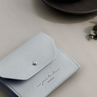 ICONIC Staff Style Leather Ticket Holder Coin Purse M-Sky Blue, ICO52217