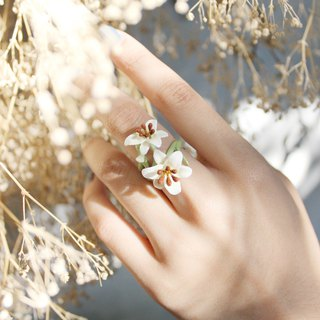 Lily Ring  , Flower Ring , Handpainted GOODAFTERNINE