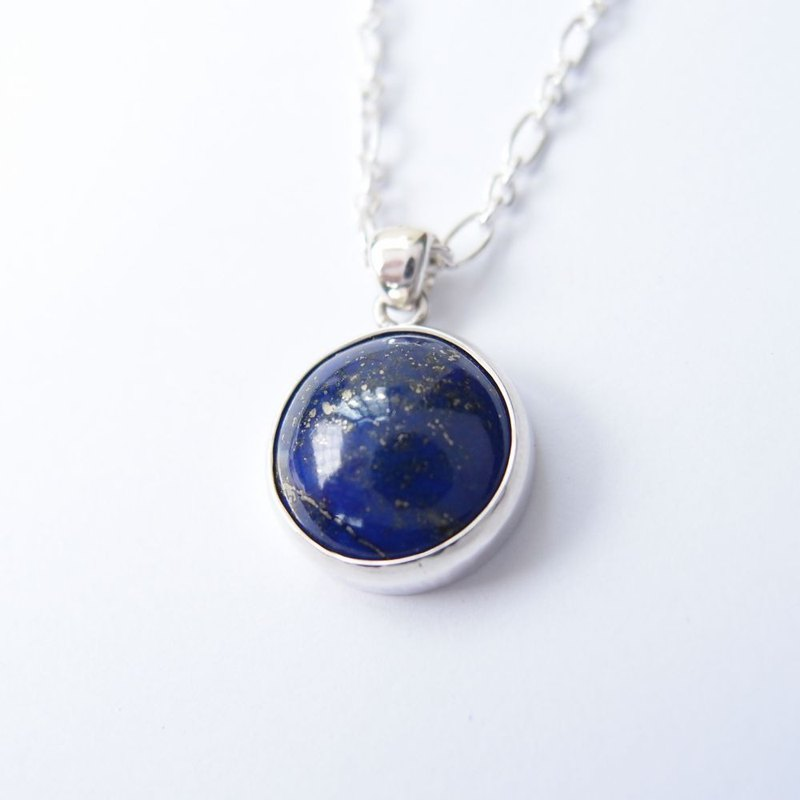 Starry Lapis 925 Silver Necklace