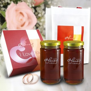 Kapok Angel: Soon Honey Bee I Love You Honey Kapok precious gift of pure honey 2 bottles into the bottle 460 grams