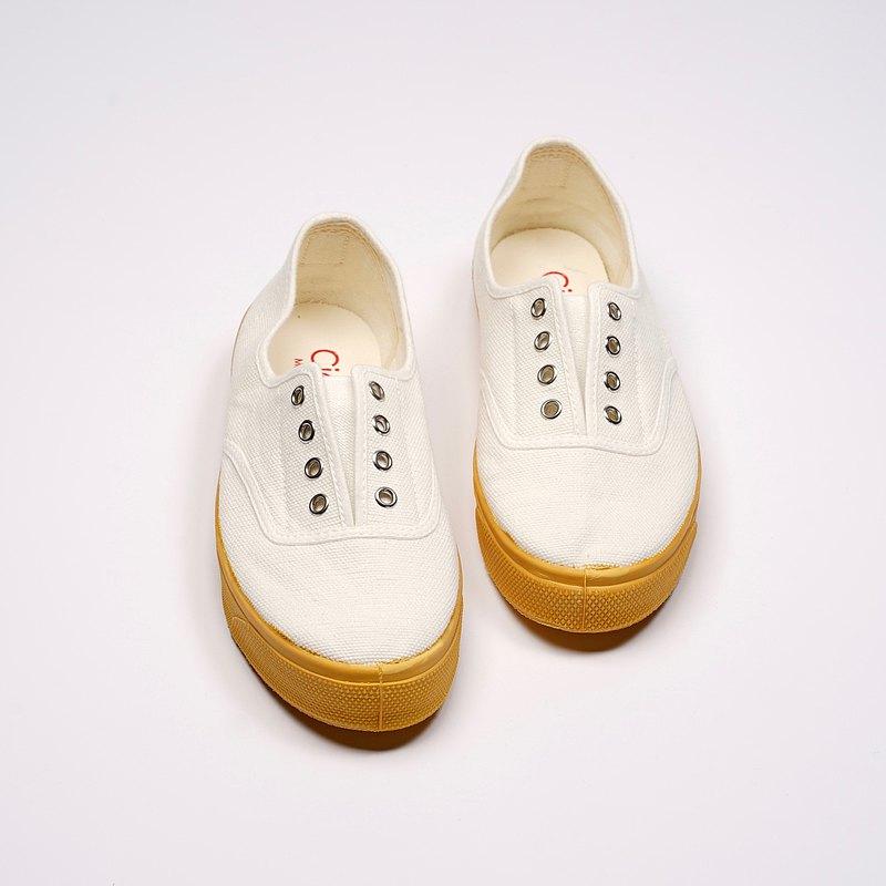 西班牙國民帆布鞋 CIENTA J10997 05 白色 黃底 經典布料 大人