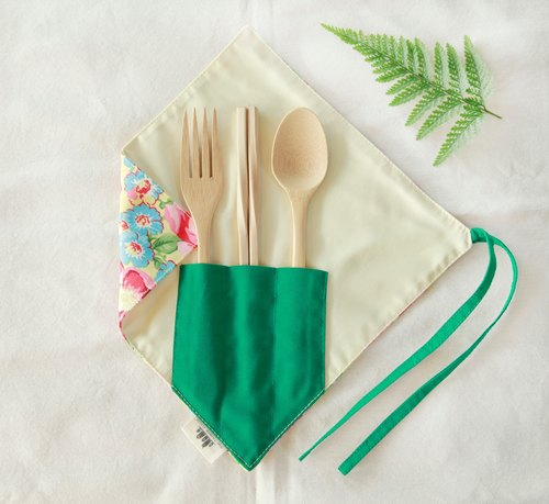 [Designer limited! A corner tableware group] - colorful blossoming - cotton fabric features colorful