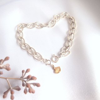 Infatuated Intertwined | Soft Personality Gold Ginkgo Silver Bracelet