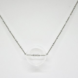 Stainless steel necklace * transparent * ➪ Limited X1