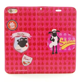 "Smiled sheep genuine authority (Shaun The Sheep) - Magnetic phone holster (Rose): [] Strawberry Cake ""iPhone / Samsung / HTC / ASUS / Sony"""