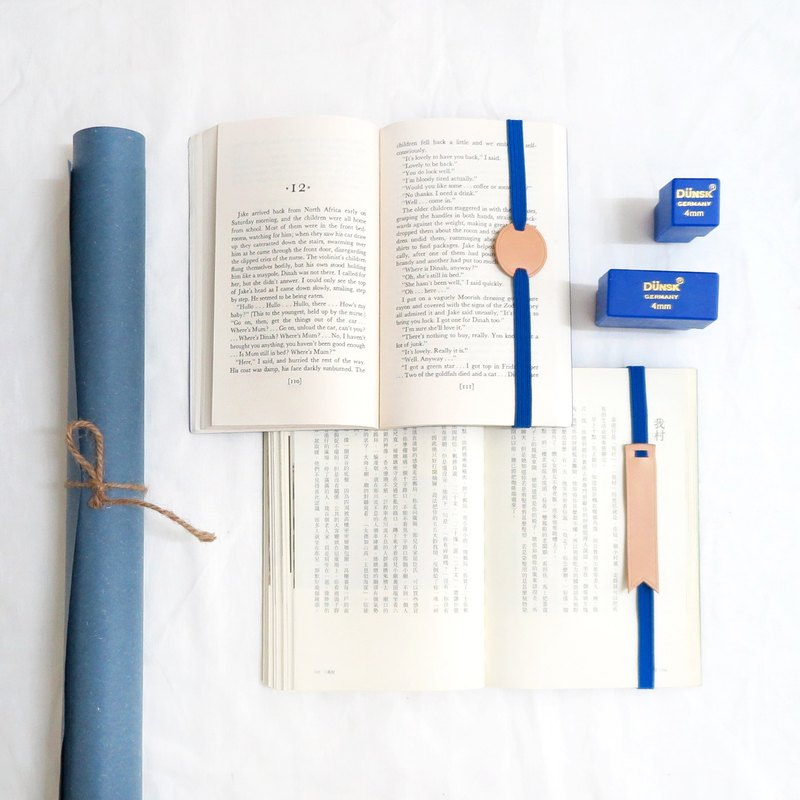 Original and Hand-made Bookmark Strap- Blue