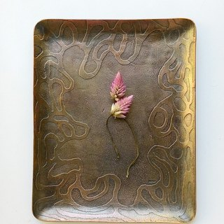 【daily. Handmade copper small dish - curve