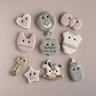 Leona Handmade ((小柴女宝)) 10 Piece Frosted Cookies Biscuits