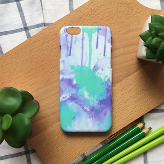 Green and purple cool tone watercolor ink. Matte Case( iPhone, HTC, Samsung, Sony, LG, OPPO)