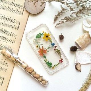 B for Beloved :: initial pressed flower phonecase