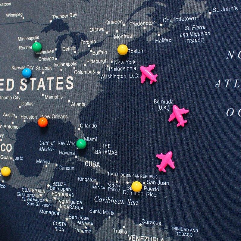 UMade 訂製地圖專用 飛機地標磁鐵 6個