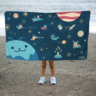 Lonely Planet Bath Towel - Space Travel