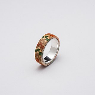 Send wood style ring R0406005