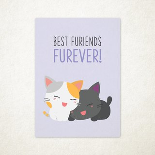 Best Furiends Furever Greeting Card