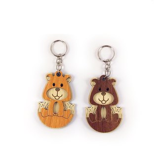 Woodcarving Keyring - Cubs