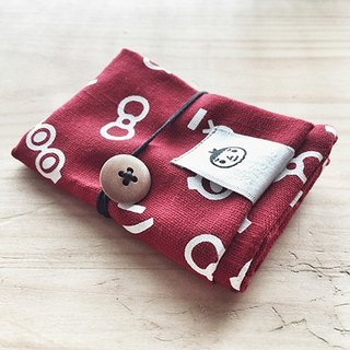 [BestFriend] Eyes, Nose, Lips Cotton Card Case Card Pouch / card sets / Red