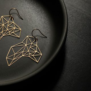 Stone Earrings (Gold)