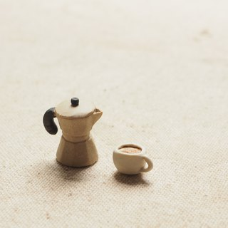 Tiny Moca pot coffee ceramics set
