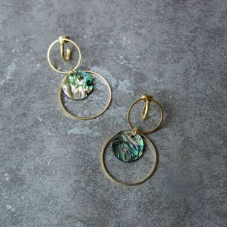geometry. Natural Abalone Shell Earrings