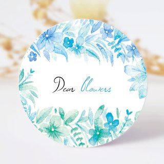 Flower-shaped series of rain paper tape