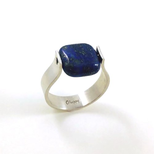 Ohappy design models. Lapis lazuli silver ring