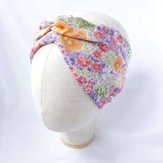Colorful full garden spring turban scarf towel style wide hair band