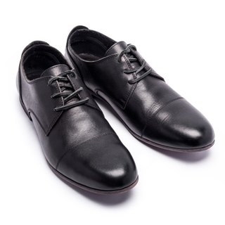ARGIS classic simple low-tube Derby shoes #91102 black - Japanese handmade
