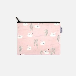 Dailylike Natural waterproof cotton bag M-05 Swan Lake, E2D03602