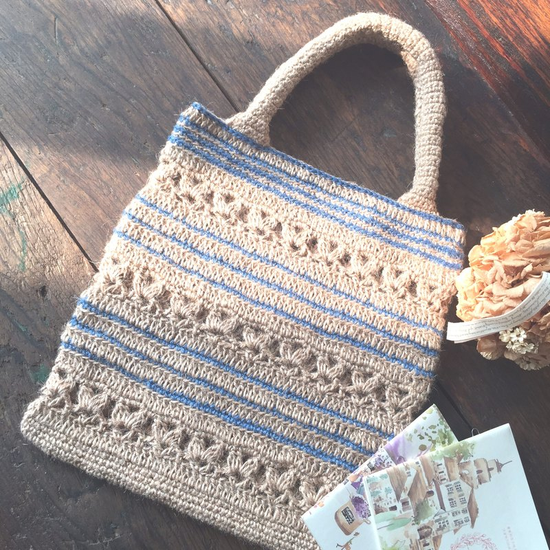 About the definition of love linen woven bag / twine / handbag / shopping bag