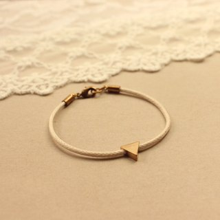*hippie* Triangle│Textile band Bracelet in Ivory with Pendent
