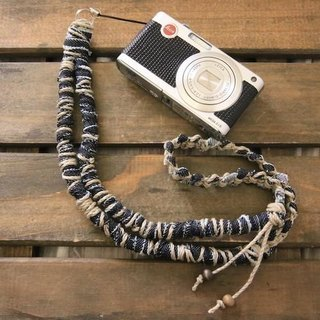 Denim split cloth neck strap