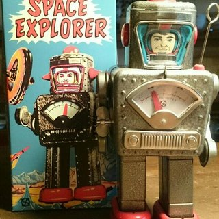 Limited production of 200 identity cards attached spring start SPACEMAN ROBOT iron control of space robot