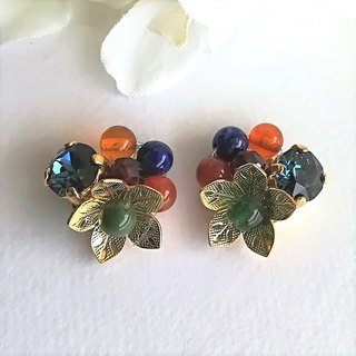 Agate Flower Earrings