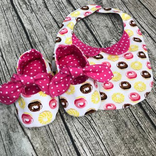 Sweet Beanie Donuts Gift Box - Toddler Shoes + Bib
