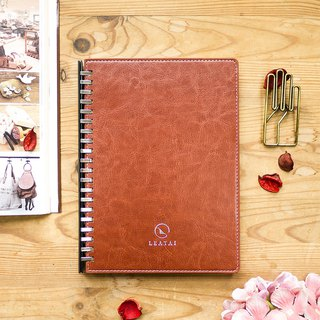 Loose Leaf Removable Booklet- Brown Cover