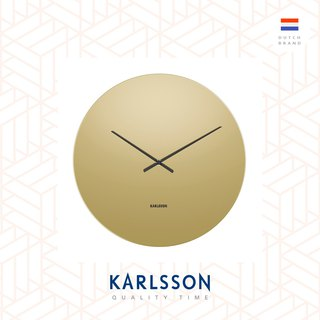 Karlsson, Wall clock Mirage copper glass mirror