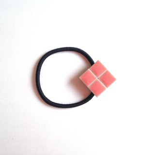 Tile hair rubber (pink)