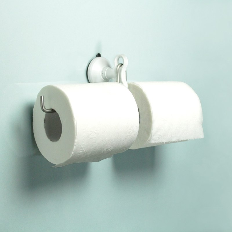 Dipper strong suction cup wall mount (middle) - double toilet paper holder set