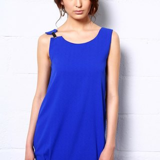 Desert Gems Slip Dress In Cobalt Blue