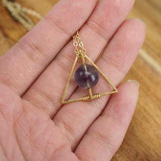 MYTH: trigonometry purple fluorite necklace