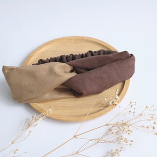 MaryWil Suede Hairband - Khaki/Coffee