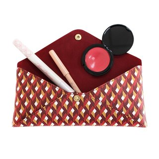 FULLGRAIN │ ITALY PVC stereoscopic geometric storage bag (pencil case / purse / cosmetic bag / cell phone pocket) red