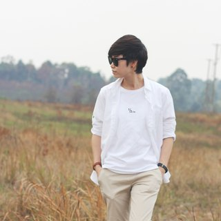 "White cotton T-Shirt "" Half life """