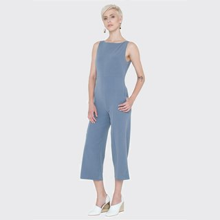Sleeveless Jumpsuit (Blue-Grey)