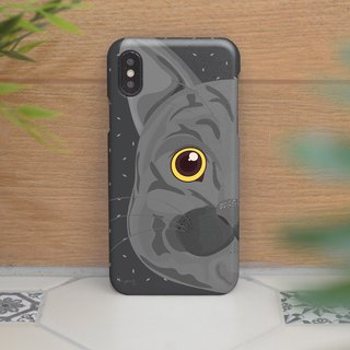 gray cat right face iphone case สำหรับ iphone7 iphone8 iphone8 plus iphone x